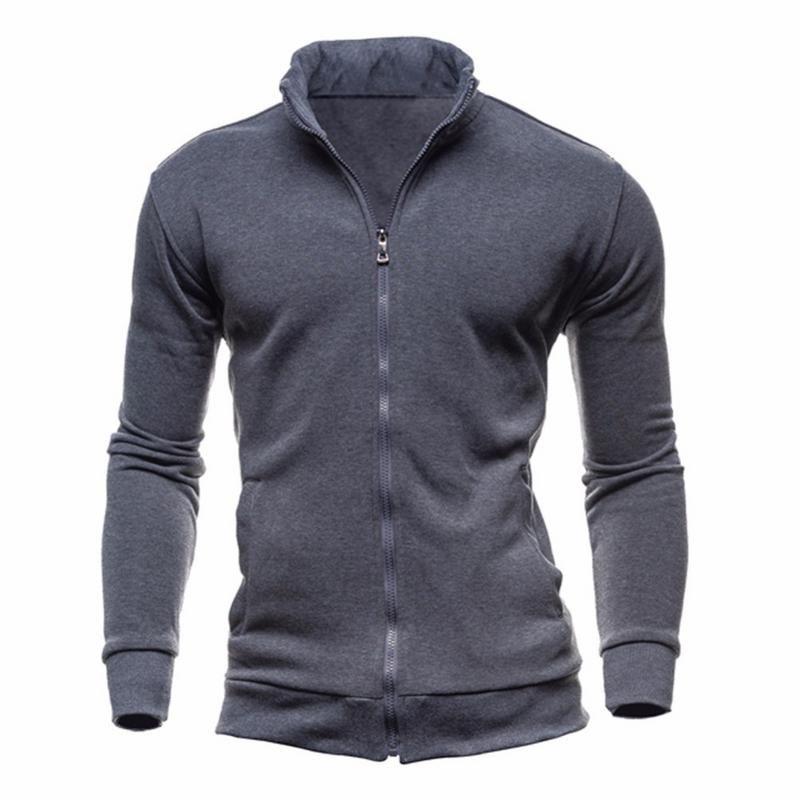 Jackets Men 2019 Hooded Overcoat Baseball Jackets Casual Coat Men Outwear Streetwear Jacket Zipper Collar Jacket
