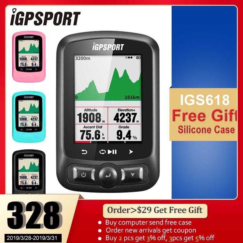 IGPSPORT Radfahren ANT + GPS IGS618 Bike Fahrrad Bluetooth Drahtlose Stoppuhr Tachometer Wasserdichten IPX7 Fahrrad-geschwindigkeitsmesser Computer