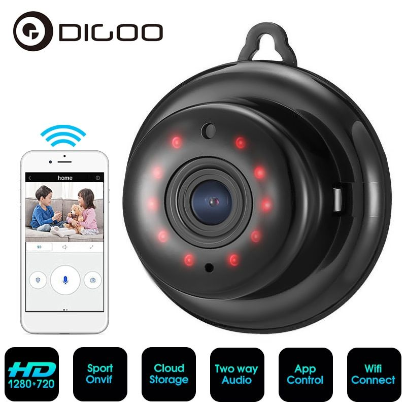 Digoo DG-MYQ HD 1080P Wireless WiFi Smart Home Security IP camera Onvif Baby Monitors Cloud Storage Night Vision