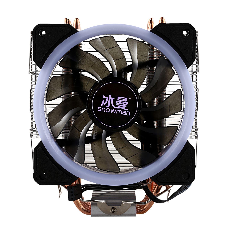 Bonhomme de neige LED refroidisseur de processeur Master 5 caloducs à Contact Direct gel tour système de refroidissement CPU ventilateur de refroidissement avec ventilateurs PWM