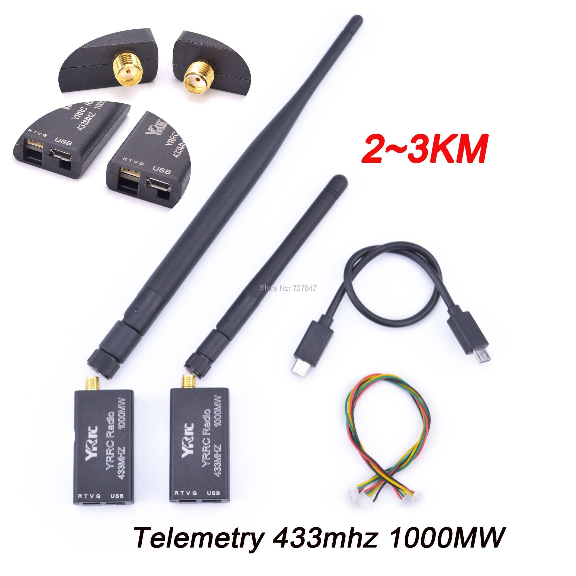 3DR Radio Telemetrie 433 mhz 433 1000 MW 2 ~ 3 KM Daten Telemetrie TTL & USB Port abstand für APM Pixhawk Pixhack