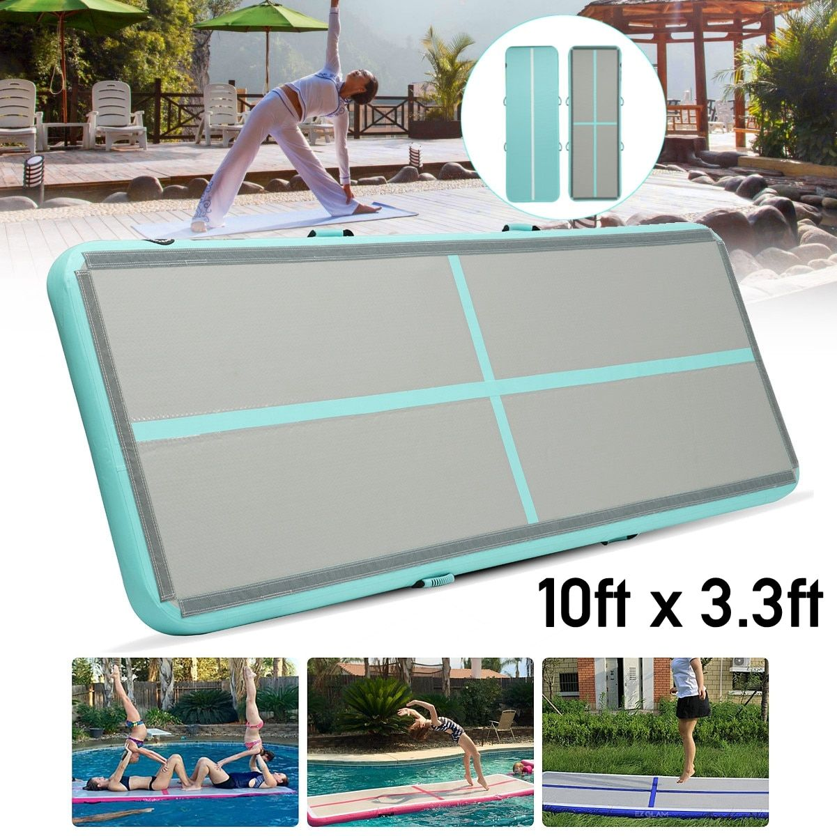 Big Discount 100*300*10cm Airtrack inflatable Air Tumbling Air Track Gymnastics Mats Training Board Equipment Floor