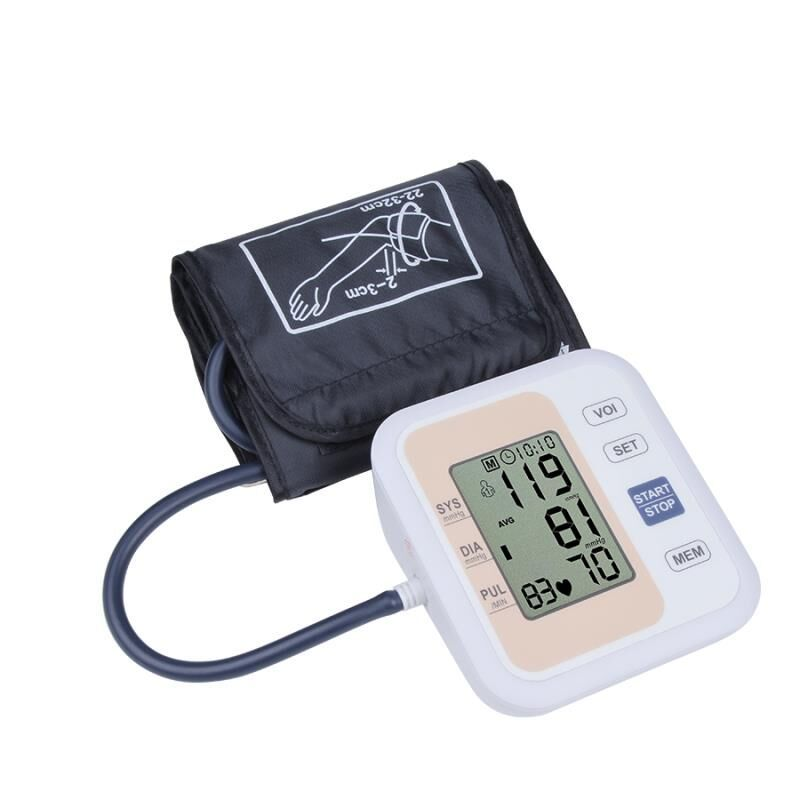 Automatic Digital Upper Arm <font><b>Blood</b></font> Pressure Monitor Heart Beat Rate Pulse Meter Tonometer Sphygmomanometers pulsometer
