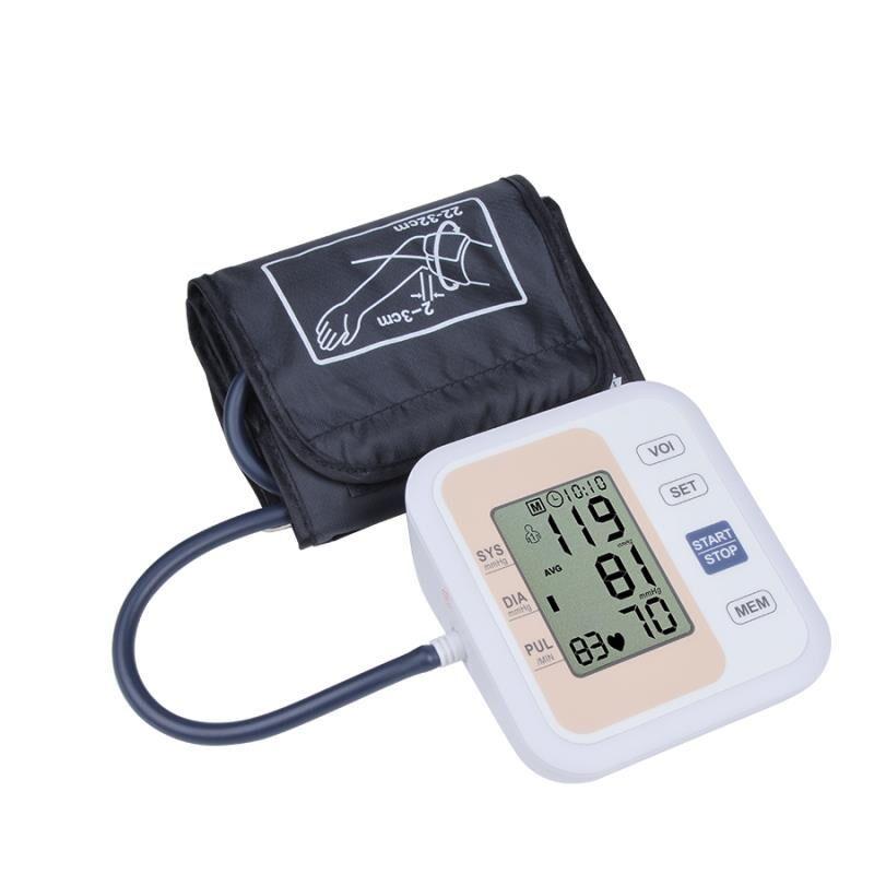 Automatique Numérique Bras Moniteur de Pression Artérielle Battement de Coeur Pouls Compteur Tonomètre Sphygmomanomètres pulsomètre