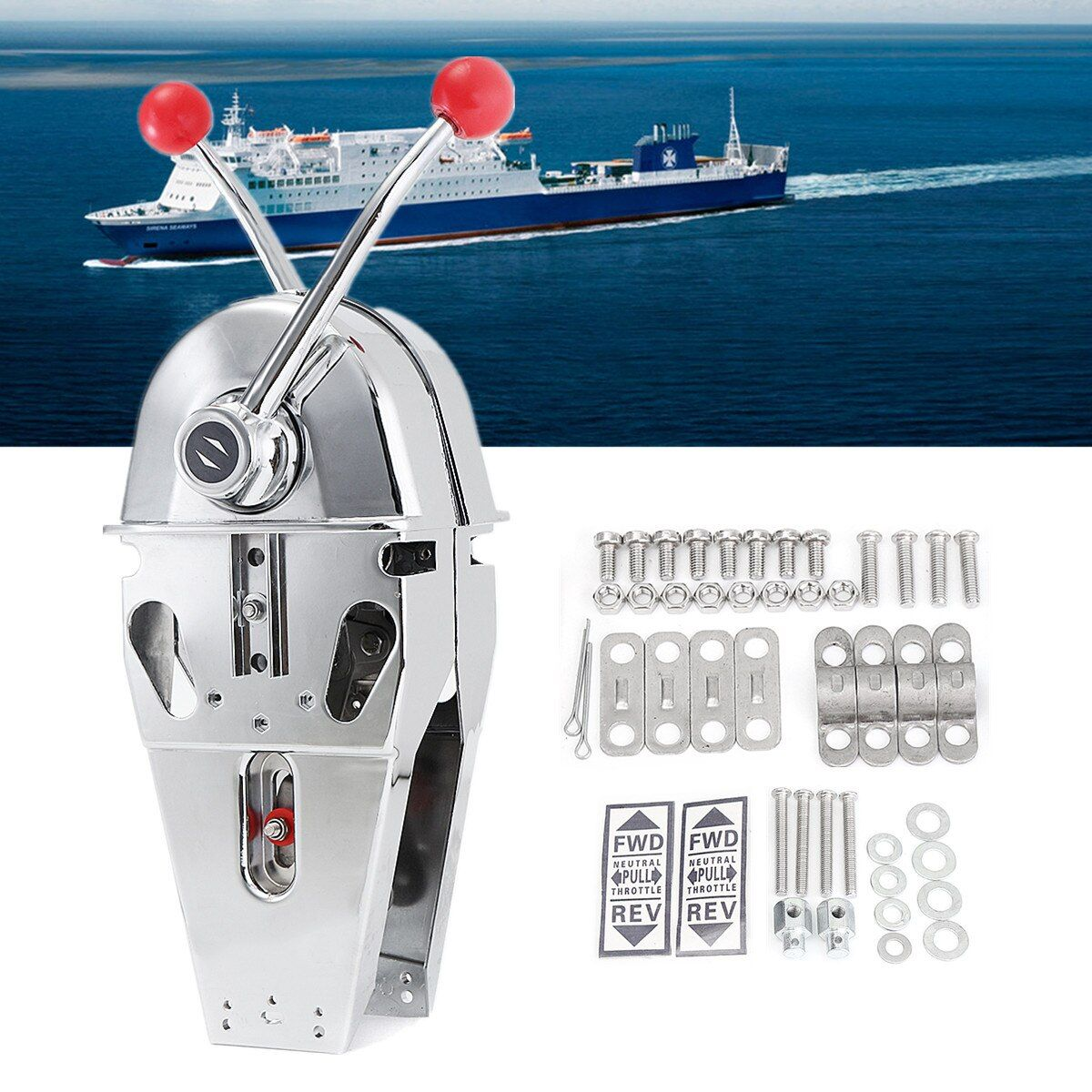 316 Edelstahl Marine Boot Twin Hebel Griff Top Mount Dual Motor Control Eingebaute Reibung Glatte Shitting/Drosseln