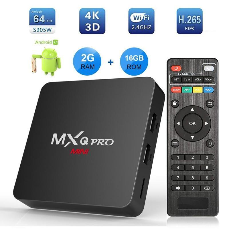MXQ Pro MINI Android7.1 Smart TV Box 2 GB + 16 GB Amlogic S905W Quad Core 4 K Set- top-Box Media Player Hohe Qualität Set-top Box