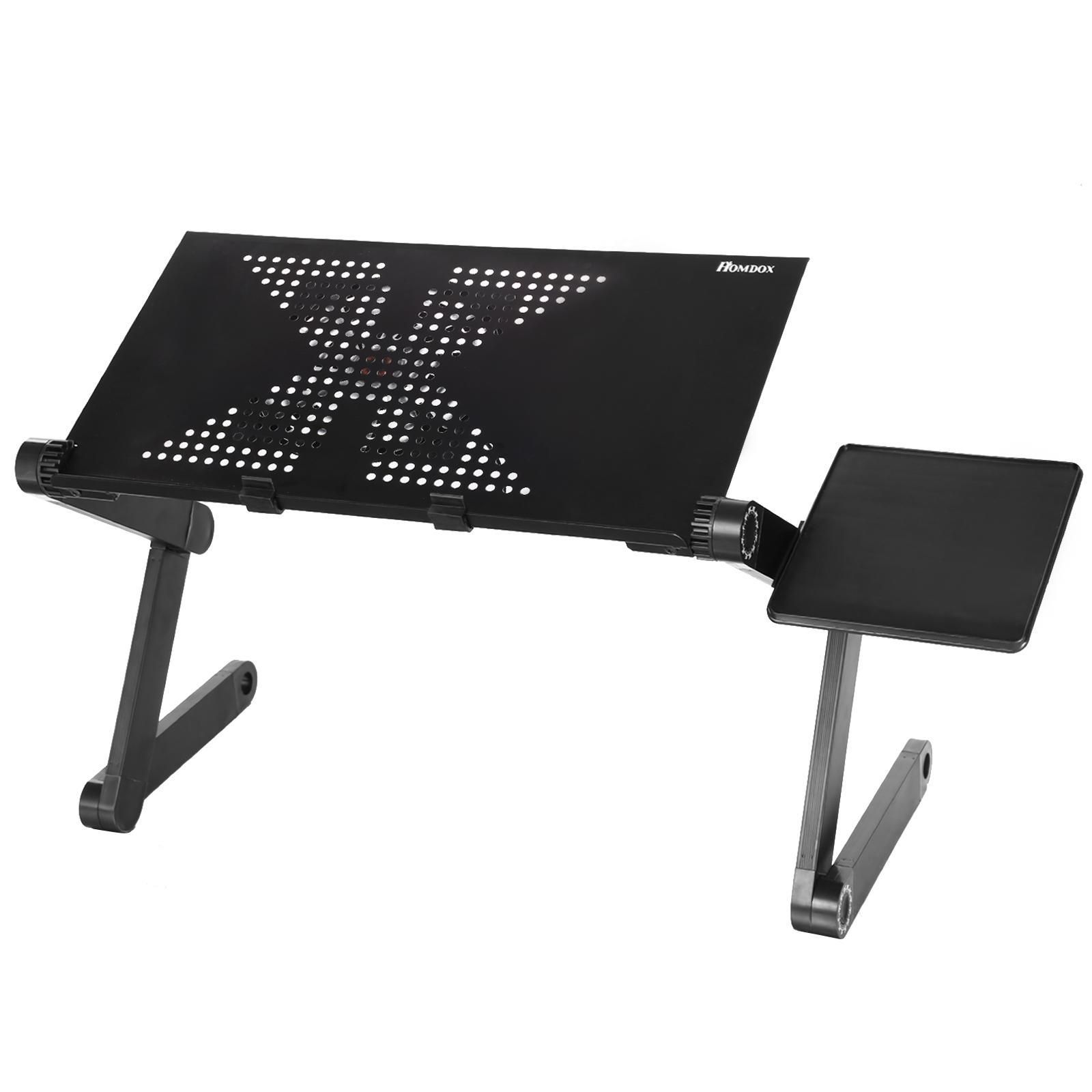 Table Foldable Table Desk Meadow Carpet Laptop Notebook Adjustable Black Computer Stand Bed Sofa 360 Degree