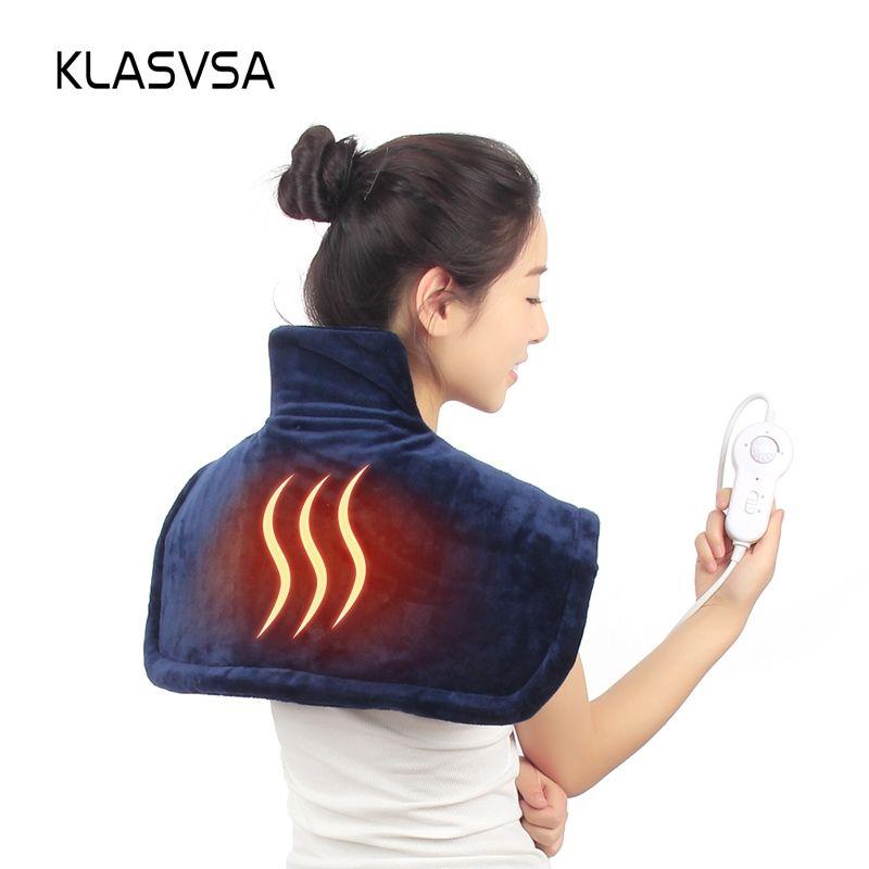 KLASVSA électrique chaud épaule chauffage orthèse soutien cou Pad cervicale thérapie physique colonne vertébrale pour dos Posture correcteur
