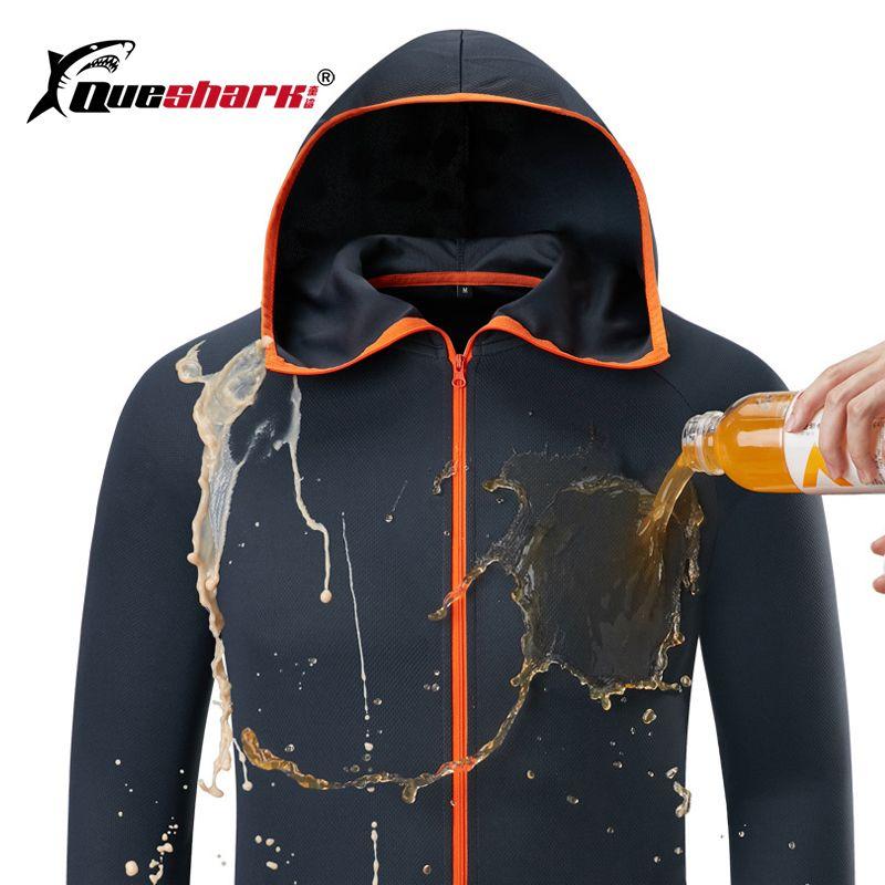 Glace soie imperméable pêche hommes vêtements Tech hydrophobe vêtements marque liste décontracté kleding extérieur Camping à capuche vestes