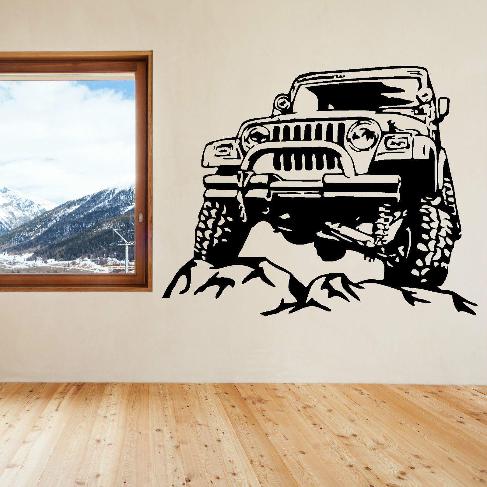 JEEP amovible vinyle art wall sticker decal livraison gratuite