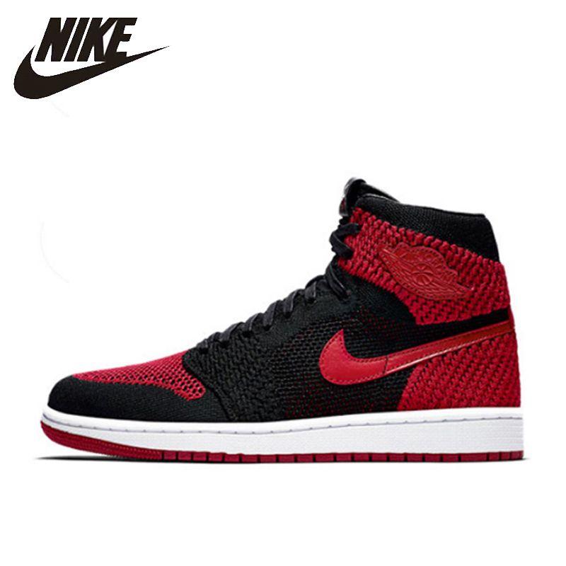 Nike Air Jordan 1 Flyknit AJ1 Neue Ankunft Offizielle männer Atmungs Basketball Schuhe Outdoor Sport Turnschuhe #919704