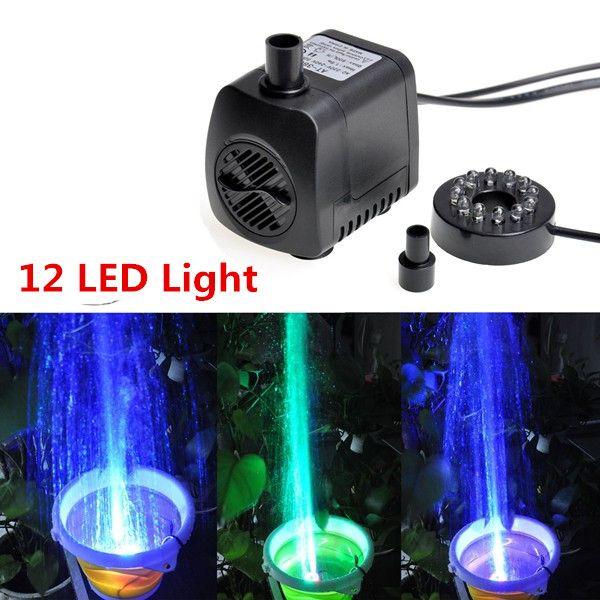 800L/H LED Ultra-silencieux Submersible pompe à eau fontaine filtre poissons étang Aquarium pompe à eau réservoir fontaine 15 W