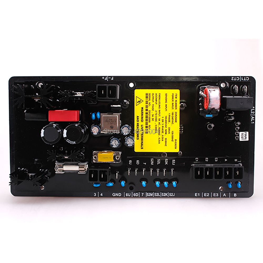 DVR2000E DVR 2000E Generator Parts AVR Digital High Quality Voltage Regulator for Genset Sold from Factory