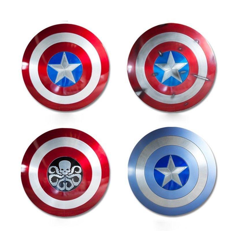 Marvel legends Sh65 1/1 Action Figure Movie Peripherie Avengers Neue Version Kapitän Amerika Aluminium Metall SCHLACHT SCHADEN Schild