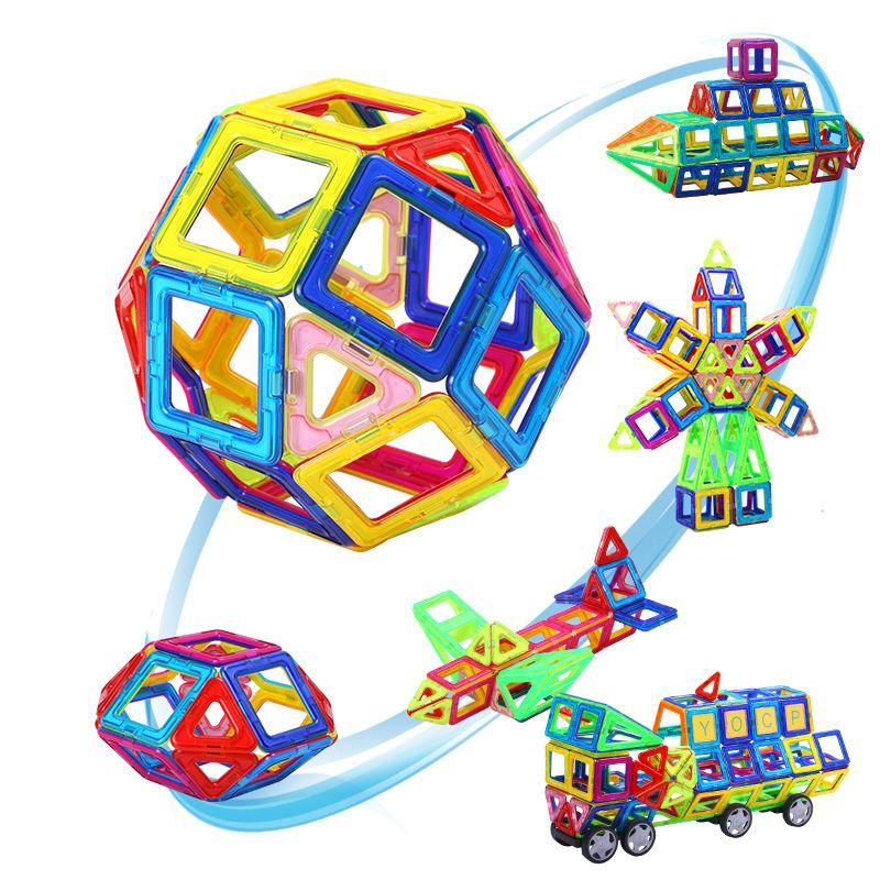 110pcs-184pcs Mini Magnetic Blocks Magnetic Designer Construction 3D Model Magnetic Blocks Educational Toys For Children