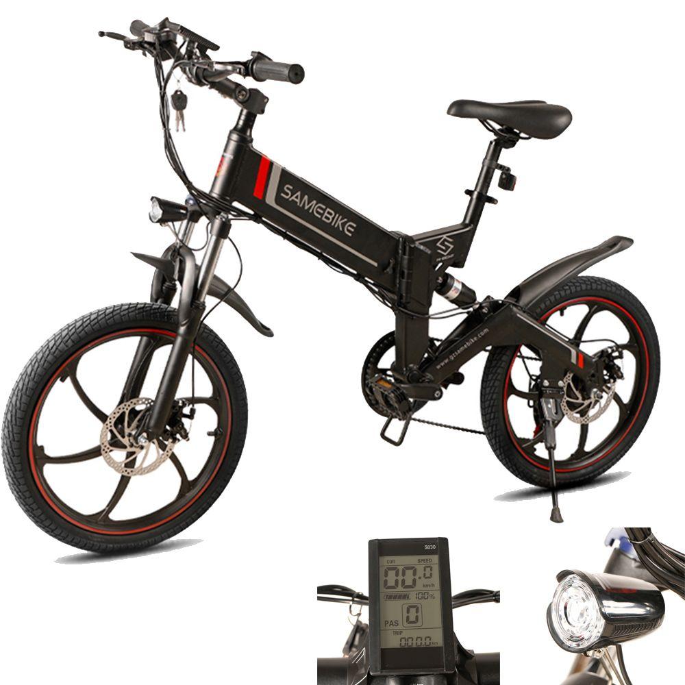 Samebike 20 ZANCHE Mini Elektrische Bike Moped Fahrrad 48 V Elektrische Fahrrad 350 W Motor 10Ah Intelligente Klapp Elektrische Fahrrad freies Schiff