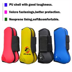 Free shipping horse  Neoprene tendon  boots,PU  shell.Horse jumping protection pair,front boots 1 pair(AC70231)