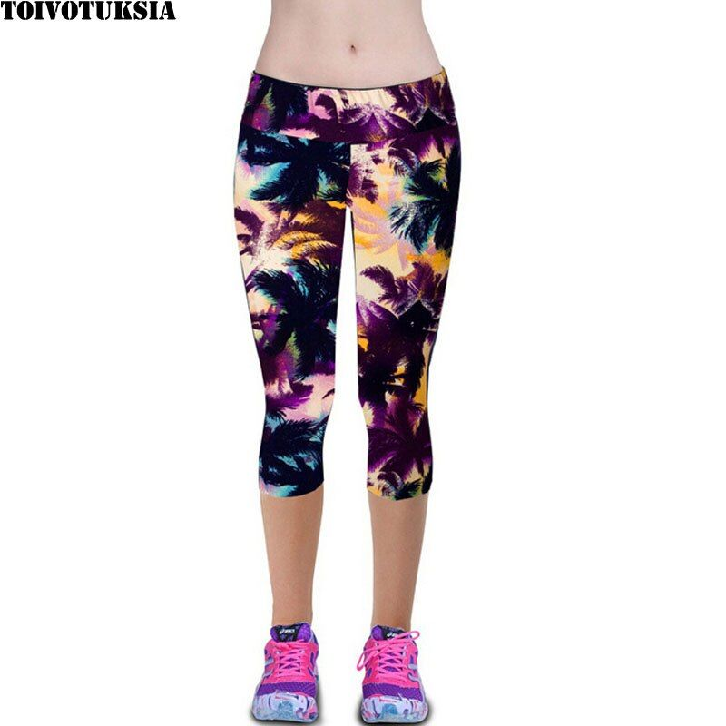 TOIVOTUKSIA Leggings pour femmes Capris Leggins taille haute élastique exercice femme élastique extensible Leggings Slim pantalon M-XXL