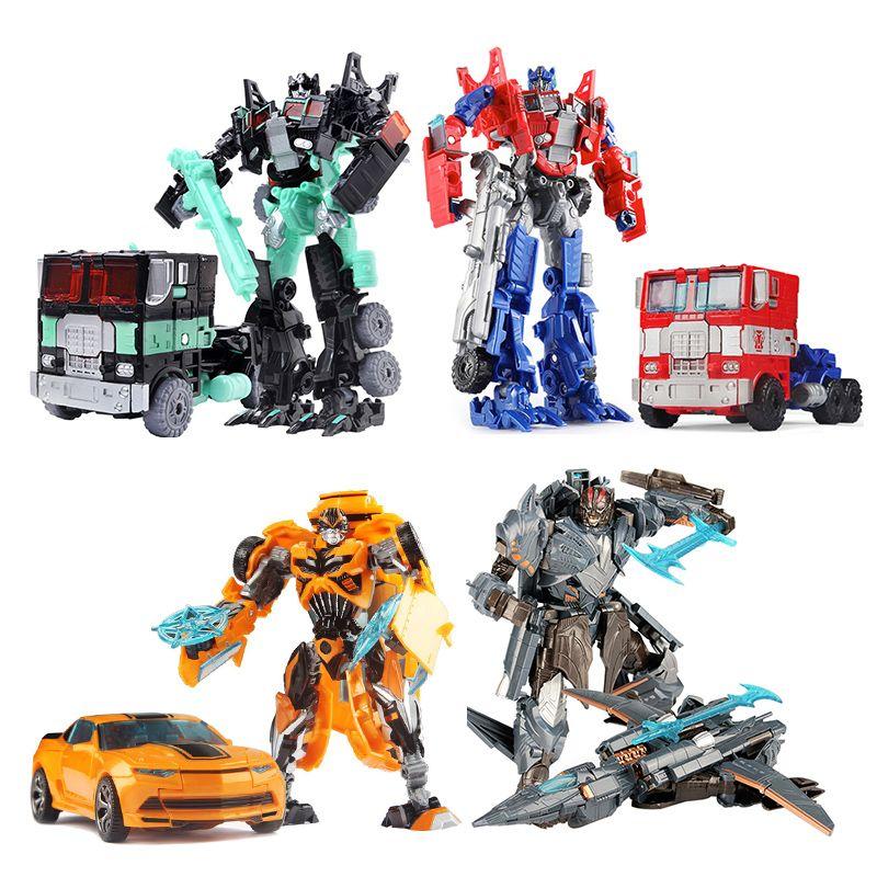 19 cm Transformation voiture Robot jouets Bumblebee Optimus Prime Megatron Decepticons Jazz Collection Action Figure cadeau pour les enfants