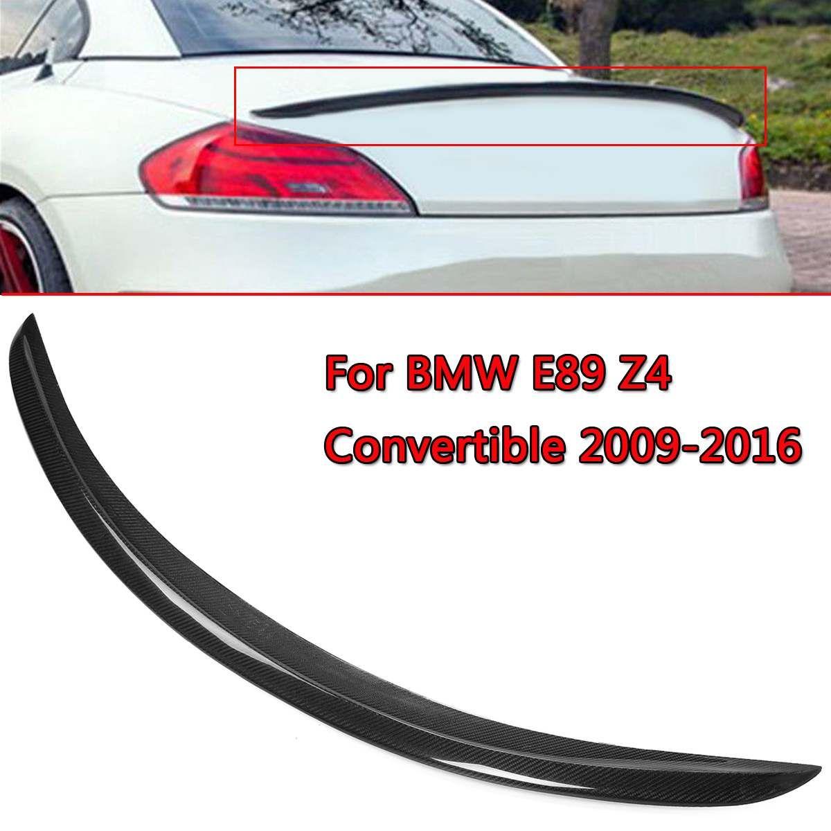 Neue Real Carbon Fiber Trunk Lip Spoiler Für BMW E89 Z4 Cabrio 2009-2016 Glanz Schwarz mit Carbon Faser heckspoiler Flügel