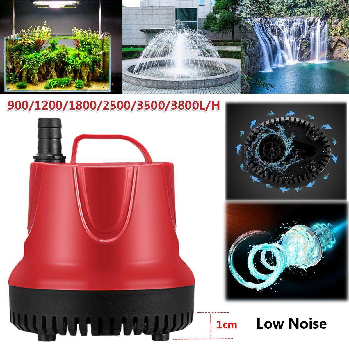 10/15/30/45/60/80W 50Hz pompe à eau réservoir de poisson Submersible pompe Ultra-silencieuse fontaine Aquarium étang bec caractéristique pompe avec prise US