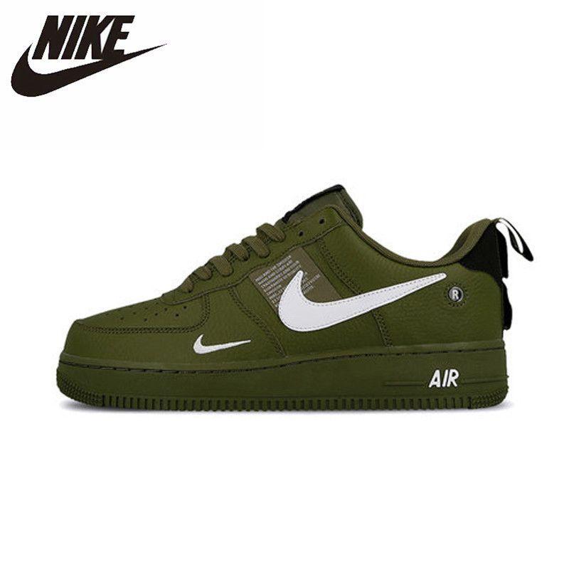 Nike Air Force AF1 Original Neue Ankunft Männer Skateboard Schuhe Leder Sport Im Freien Turnschuhe # AJ7747-300