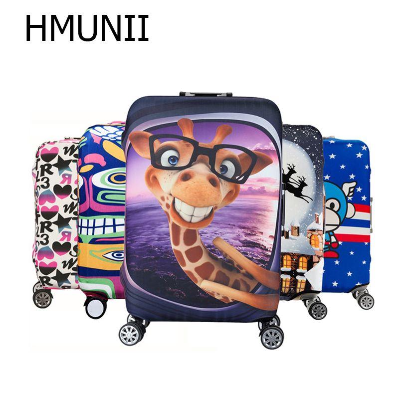 HMUNII housse de protection élastique pour bagages 19-32 pouces valise Trolley protéger sac à poussière étui enfant dessin animé accessoires de voyage