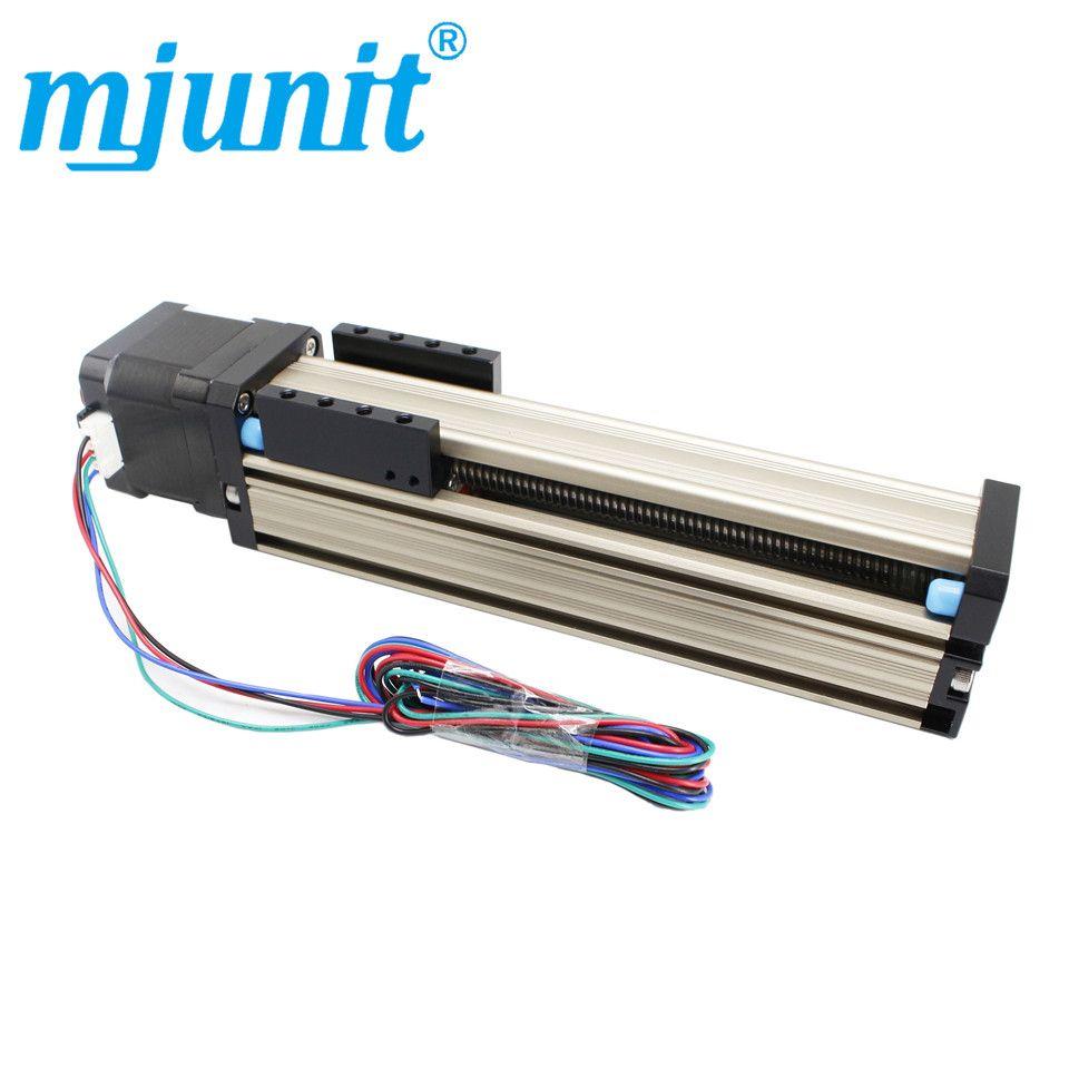 Mjunit Schraube guide rutsche tisch linear slide tisch linear modul präzision linie schienen CNC rutsche tisch modul 100mm hub