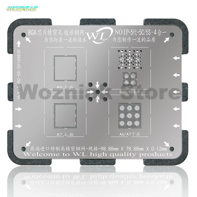 Wozniak WL NAND CPU Puce BGA Reball Tin usine acier D'étain Net Maille Bande de Base Plate-Forme Outil pour iPhone 5 5S 6 6 s 7 Plus A7 A8 A9 A10