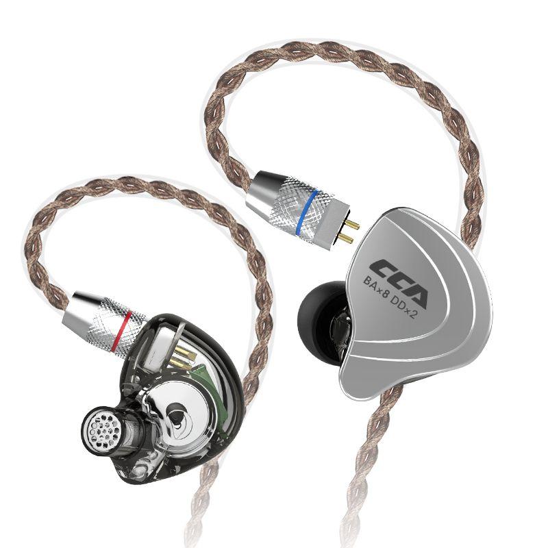 Cca C10 4ba + 1dd Hybrid In Ohr Kopfhörer Hifi Monito Laufsport Kopfhörer 5 Stick Einheit Headset Kz Bluetooth kabel Für Cca C10