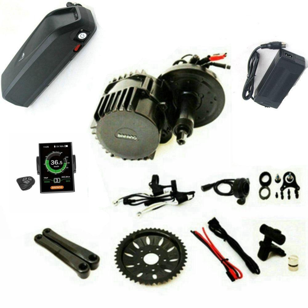 Neue Version Bafang 8Fun BBSHD Mitte Antrieb Motor Kit 48 V 1000 W Ebike Kits Mit licht und getriebe sensor anschlüsse 48 V 17Ah Batterie