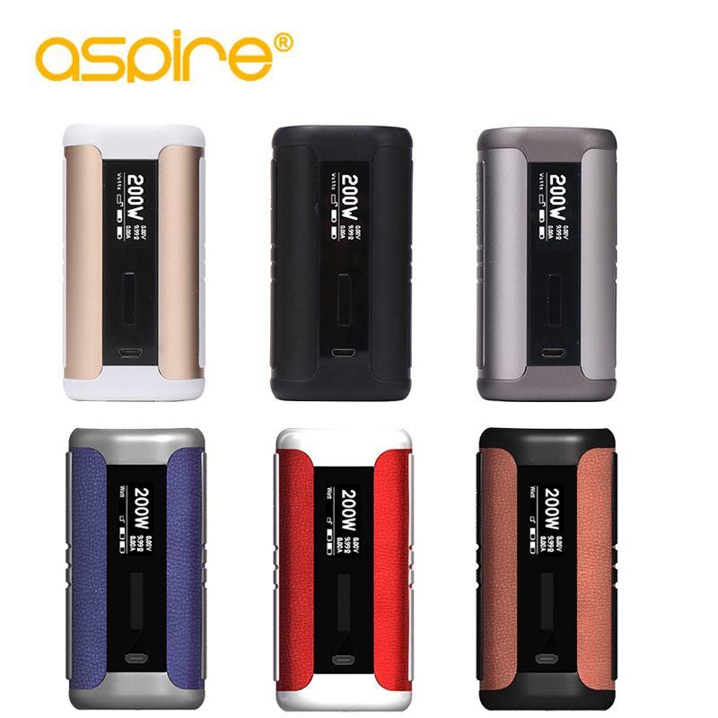 Electronic Cigarette Mods Aspire Speeder 200W Box Mod Vape Mod Fit Athos Tank 510 Thread Without 18650 Battery e cigarettes mod