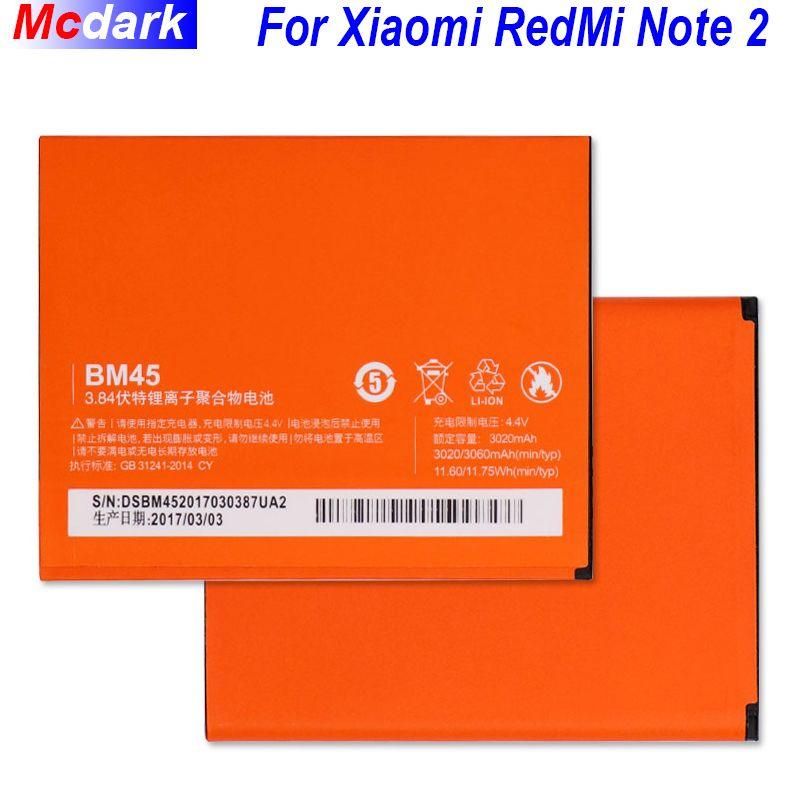 BM45 BM20 BM41 BM42 BM44 Battery For Xiaomi Redmi Note 2/Redmi Note Note 1/Redmi 1S/Redmi 2/Mi2S Mi 2 Batterij Accumulator