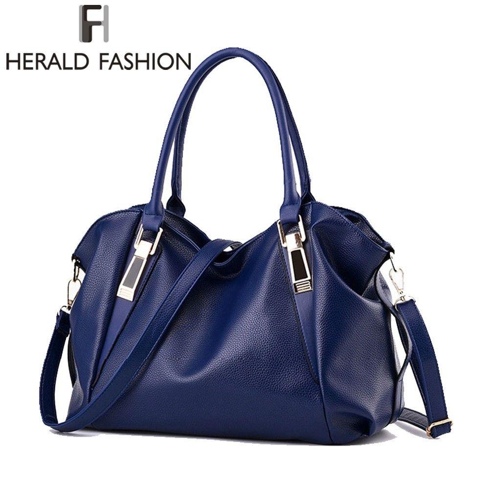 Herald Mode Designer Femmes Sac À Main Femme PU Sacs En Cuir Sacs À Main Dames Épaule Portable Sac Bureau Dames Hobos Sac Totes