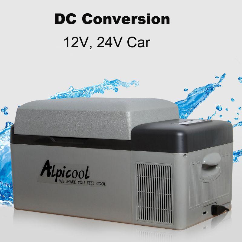 20L 57x32x32 cm 12/24 V Tragbare APP Conrtol Mini Auto Kühlschrank Mit Gefrierfach Hause Camping bootfahren Caravan Bar Kompressor Kühlschränke