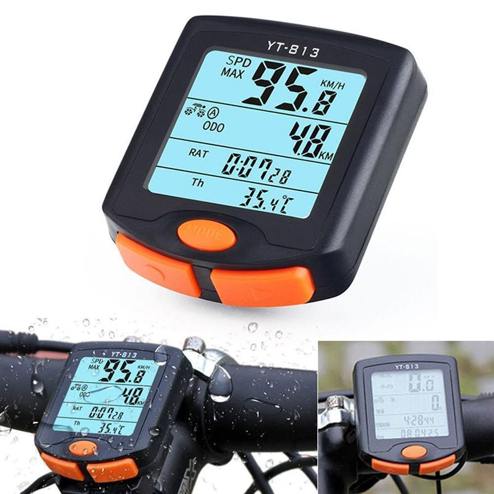 BOGEER YT-813 Bike Speed Meter Digital Bike Computer Multifunction Waterproof Sports Sensors Bicycle Computer Speedometer