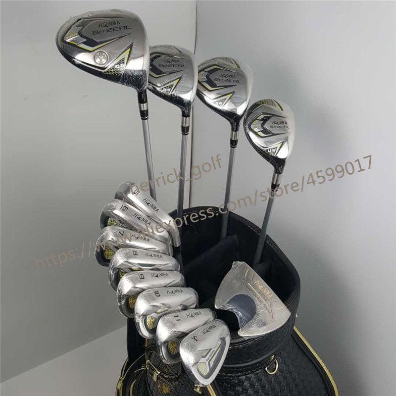 Neue 525 Golf Clubs HONMA BEZEAL 525 Komplette Set HONMA Golf fahrer. holz. irons. putter Graphit Golf welle keine tasche Freies verschiffen