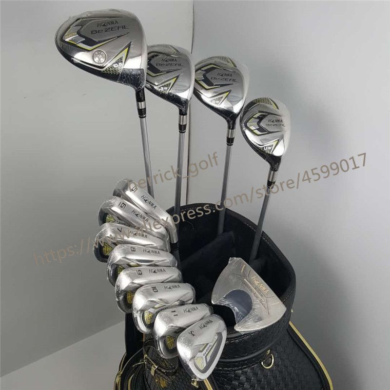 New 525 Golf Clubs HONMA BEZEAL 525 Complete Set HONMA Golf driver.wood.irons.putter Graphite Golf shaft no bag Free shipping