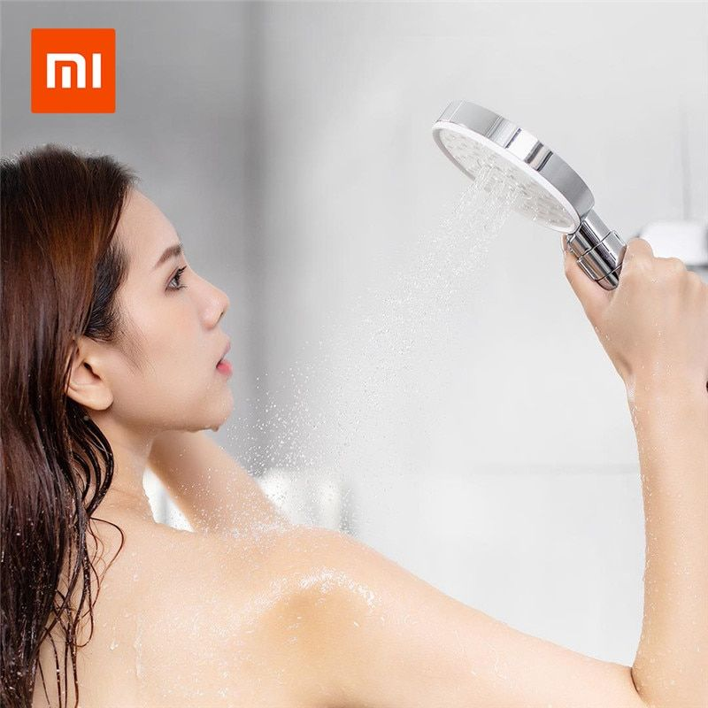 Xiaomi Mijia Diiib 3 Modes Handheld Shower Head Set 360 Degree 120mm 53 Water Hole with PVC Matel Powerful Massage Shower