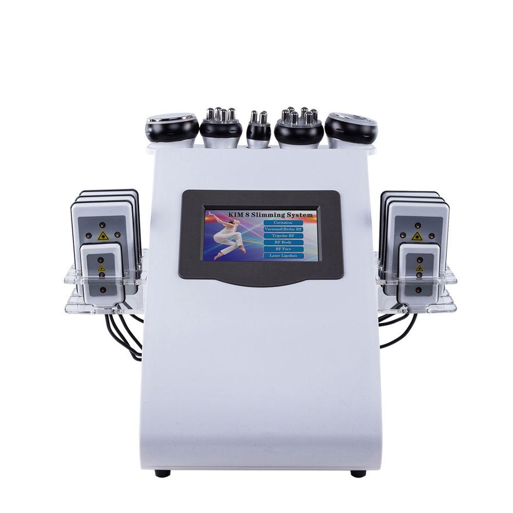 2019 neueste modell 8in1 RF Radio Frequenz Vakuum lipo Laser Kavitation Körper Shaper Gewicht Verlust Abnehmen Maschine SPA