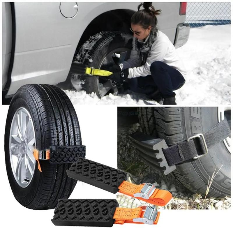 2pcs Universal Car Snow Chains Anti-Skid Wear Resistant Snow Chain For Car Tire Snow Sand Road Emergency Tyres Wheels Chains