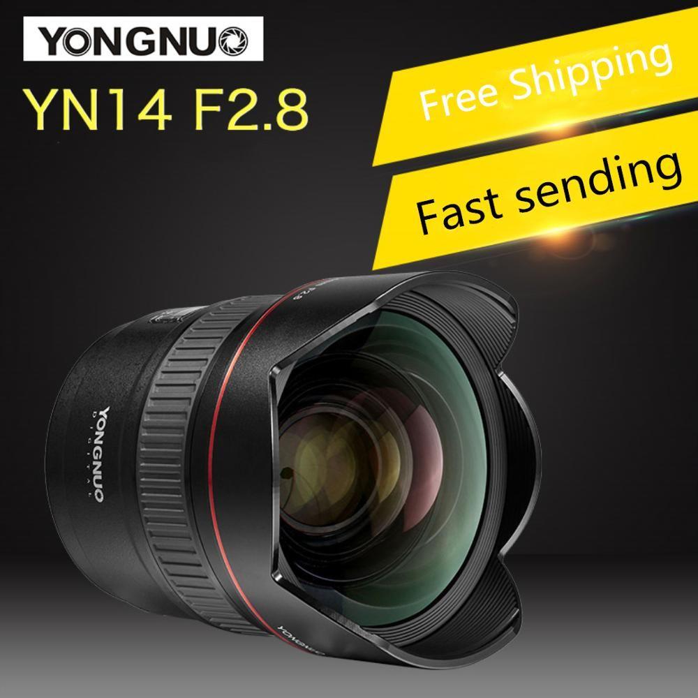 YONGNUO 14mm F2.8 Ultra-weitwinkel Prime Objektiv YN14mm Auto Focus AF MF Metall Montieren Objektiv für Canon und für nikon