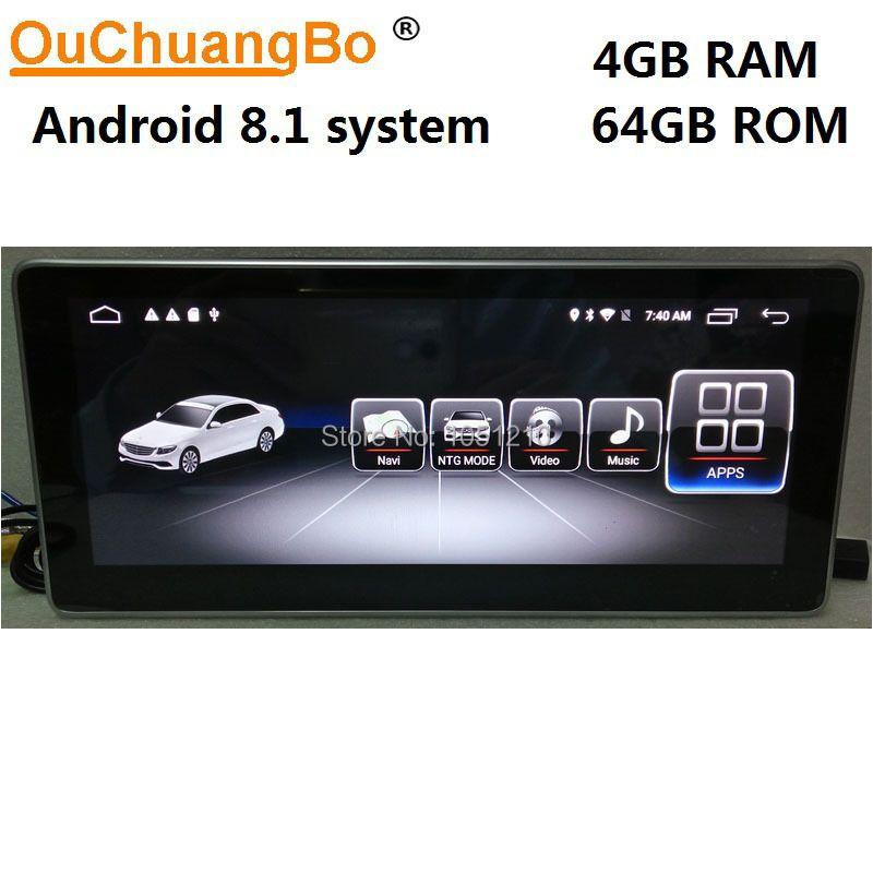 Ouchuangbo radio multimedia für Mercedes Benz E 180 200 220 250 260 300 320 400 W212 mit 4 GB + 64 GB Android 8.1 Rechten fahr