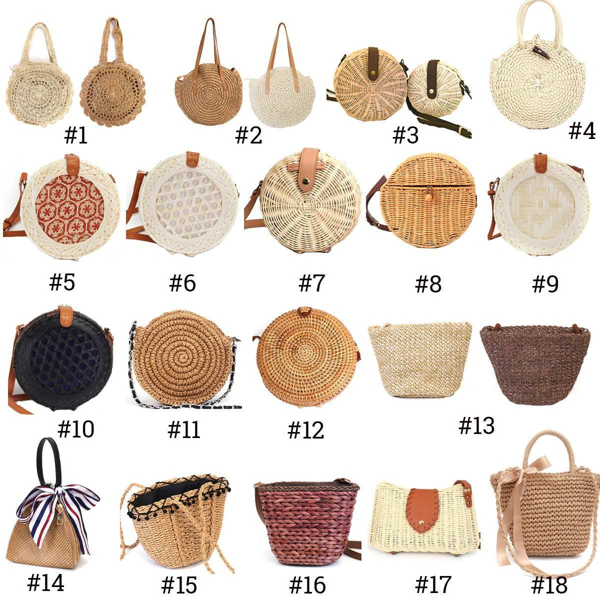 2019 femmes Vintage plage sac de paille dames à la main tissé rotin Messenger sac à main été Bali bohème sac à bandoulière