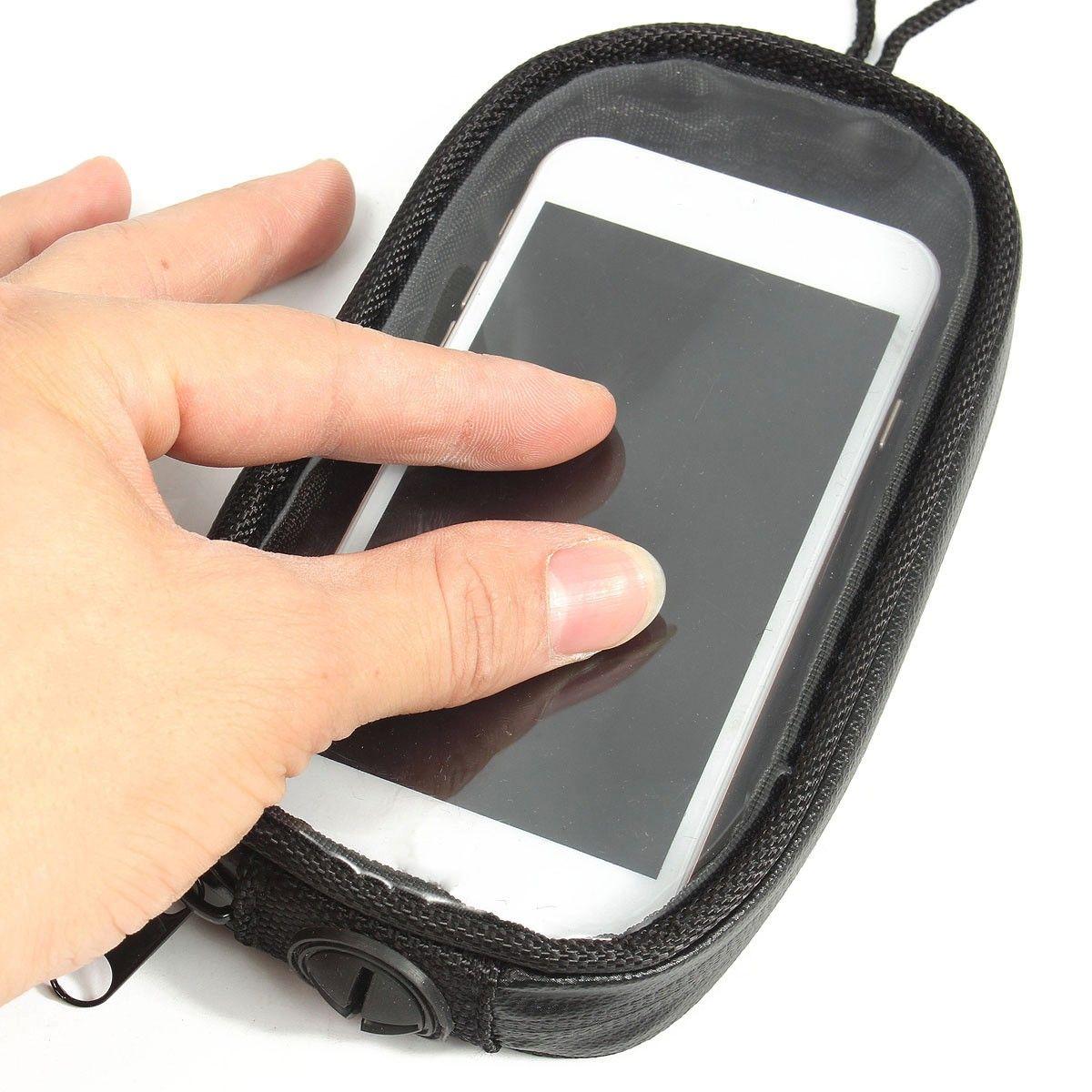 Universel Noir Moto Sacs Magnétique Gaz Réservoir Clair Pour Cas de Téléphone portable pour moto Mount Holder