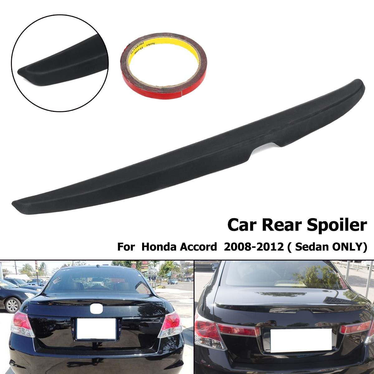 Matte Black Unpainted Rear Trunk Lip Wing Spoiler For Honda for Accord 4DR Sedan 2008 2009 2010 2011 2012 ABS Plastic