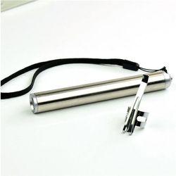 Mini Tahan Air Aluminium Alloy Senter LED Portable Baterai AAA XML Cree Senter Moon Bentuk Obor Gantungan Kunci