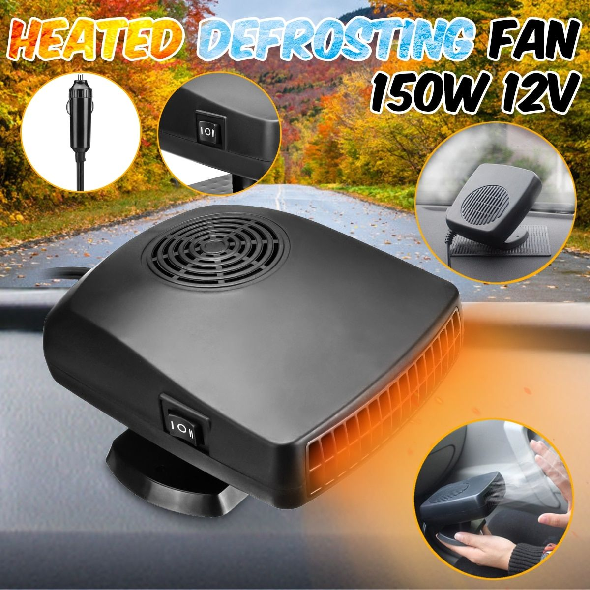 12 V 150 W Auto auto heizung fan Defroster Demister 2 in 1 tragbare auto fan Driving auto kits Auto heizung Heizung Lüfter Demister