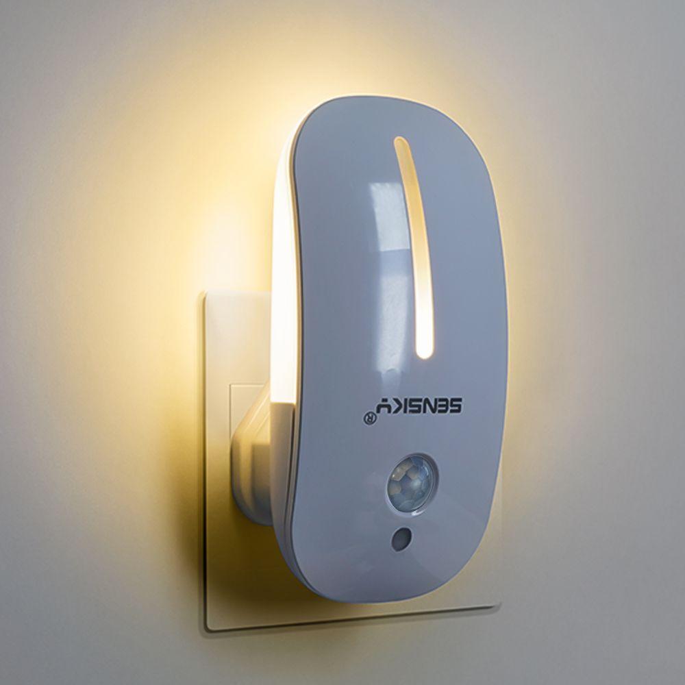 Sensky 110 V 220 V PIR détecteur de mouvement LED veilleuse 2 mode enfants sans fil lampe de nuit murale pour chambre d'enfant
