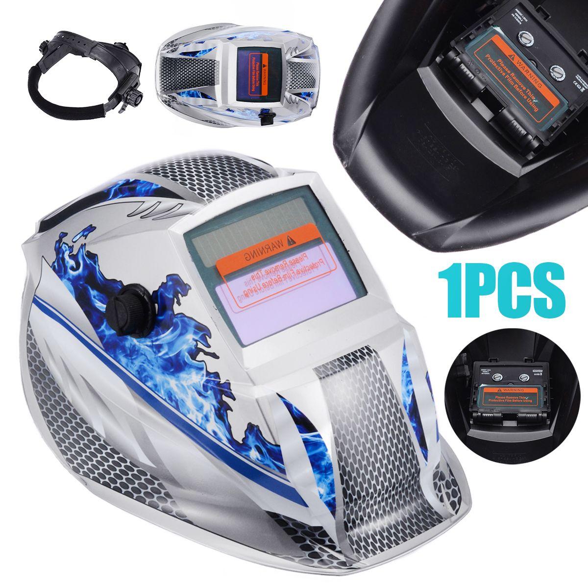 New Welding Helmet Mask Solar Auto Darkening Adjustable Welder Goggles Cap Shade Range DIN 9-13 Protective Equipment
